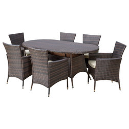 Fabulous Transitional Outdoor Dining Sets by GDFStudio