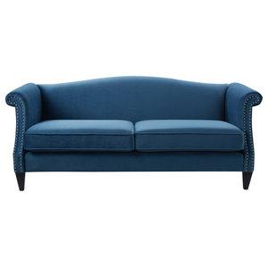 Frances Leather Craft Sofa Midcentury Sofas By Kemp
