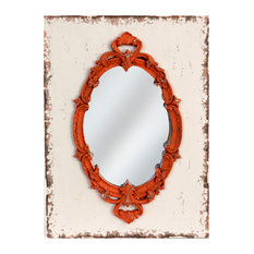 Red Wall Mirror red wood frame mirror mirrors | houzz