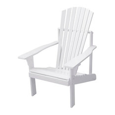 Bradley Outdoor Patio Wood Adirondack Chair