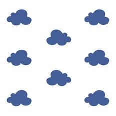 lagoa.es - Children's Clouds Wall Stickers, Dark Blue - Children's Wall Art