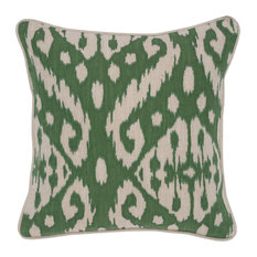 "Adana Cotton 18"" Square Throw Pillow, Green by Kosas Home"