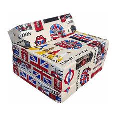Modern Stylish Futon Sofa in Fabric, Comfortable Z-Design for Easy Folding