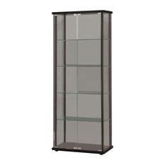 Coaster 5-Shelf Contemporary Glass Curio Cabinet