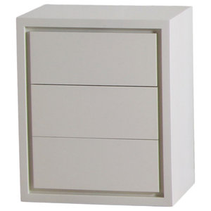 Iceland White Bedside Table