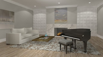Rendering for Fireplace Surround in Music Room One