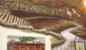 Custom Hand Painted Tuscany Mural