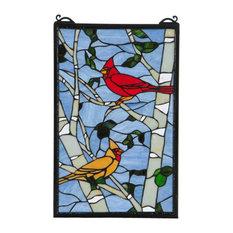 "13""x20"" Cardinal Morning Window"