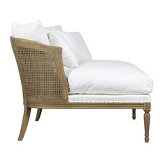Sarreid, Ltd. - Lounge Chair, Linn, Caned Back - Indoor Chaise Lounge Chairs