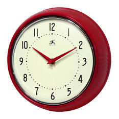 infinity instruments ltd infinity instruments retro iron wall clock red wall