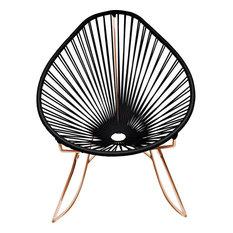 Innit Designs Junior Acapulco Rocker Chair, Copper Base, Black