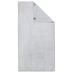Stripes Beach Towel, Silver and White
