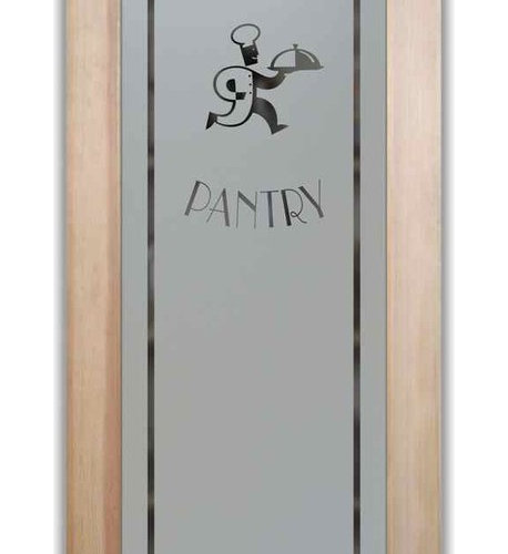 Pantry Doors - pd Frosted Etched Glass - Kitchen Products Pantry