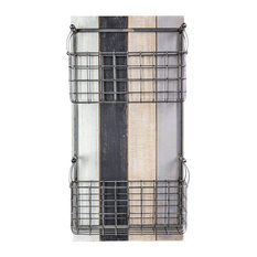2 Tier Metal Wired Meshed Wall Basket