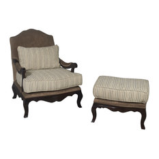 Clovis Lounge Chair and Ottoman Set