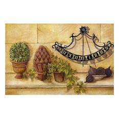 Potted Plants Gallery Door Mat, Small