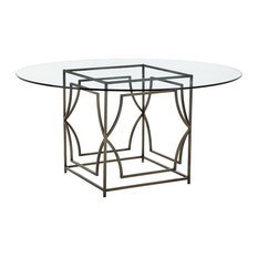 Edward Round Dining Table, Brass