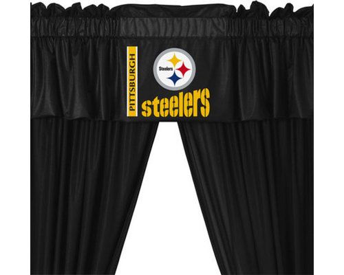 Store51 LLC   NFL Pittsburgh Steelers Football 5 Piece Valance Curtains Set    Curtains