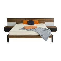 Modrest Rondo - Modrest Rondo Modern Queen Bed With Nightstands - Bedroom Furniture Sets