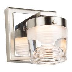 Newbury 1 Light LED Wall Light, Polished Nickel