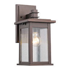 1st Avenue - Saratoga Outdoor Wall Sconce, Rubbed Bronze - Outdoor Wall Lights and Sconces