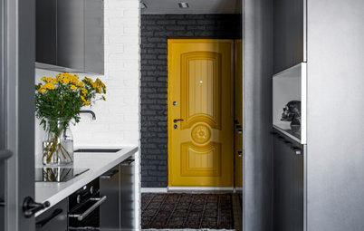 Houzz тур: Квартира в графитовых и жёлтых тонах в Екатеринбурге