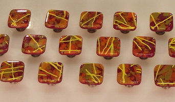 Fused Glass Cabinet Knobs and Drawer Pulls