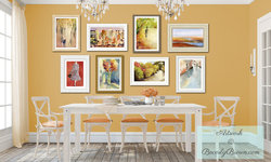 Autumn Inspired Dining Room with Gallery Wall