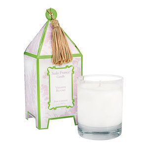Viennese Blooms Classic Toile Mini Pagoda Candle