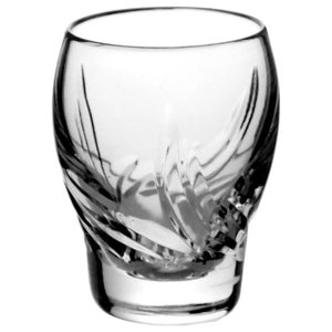 Monika Aurora Lead Crystal Vodka Glasses, Set of 6