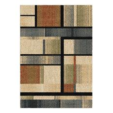 Palmetto Living by Orian Next Generation Mid-Century Blocks Rug, Multi,5'x8'
