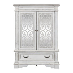 Liberty Abbey Park Mirrored Door Chest Antique White