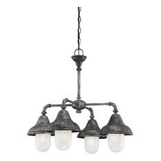 4-Light Shaded Chandelier Dining Room Pendant Light - Chandeliers
