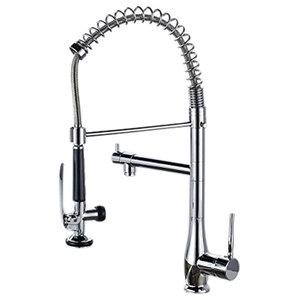 Silvano European High Quality Chrome Single Handle Swivel Spout Kitchen Faucet