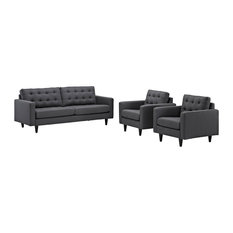 Gray Empress Sofa And Armchairs Set Of 3