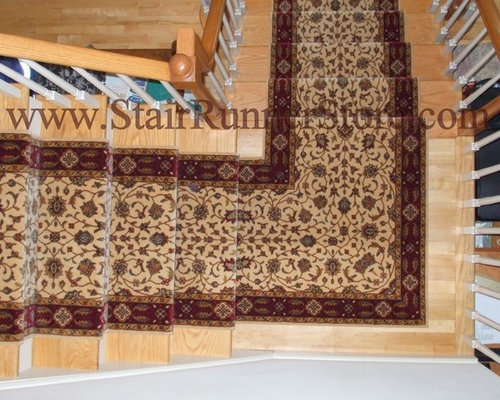 Single Landing Stair Runner Installations