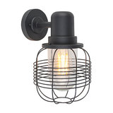 Country Outdoor Wall Lamp Black - Guardado