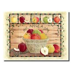 Ceramic Tile Mural Backsplash Jensen Apple Fruit