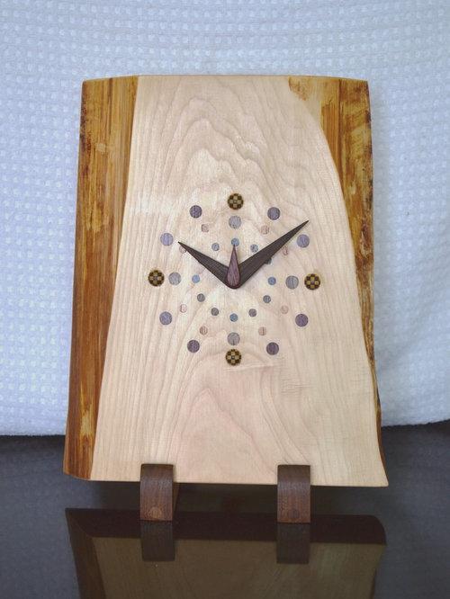 一枚板時計(ヒノキ) - 時計