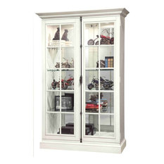 Howard Miller Clawson Display Cabinet, White