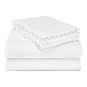 100 Cotton Soft Flannel Sheet Set Contemporary Sheet And Pillowcase Sets By Eluxury