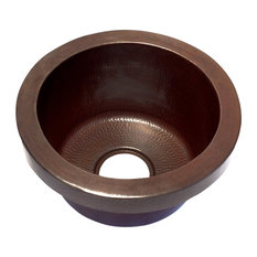 Round Bar Copper Sink Raised Profile , Without Matching Solid Copper Drain