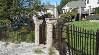 Custome curved iron fence and gates