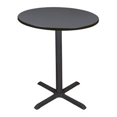 "Cain 36"" Round Cafe Table, Gray"