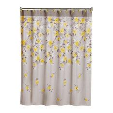 Saturday Knight Spring Garden Floral Shower Curtain