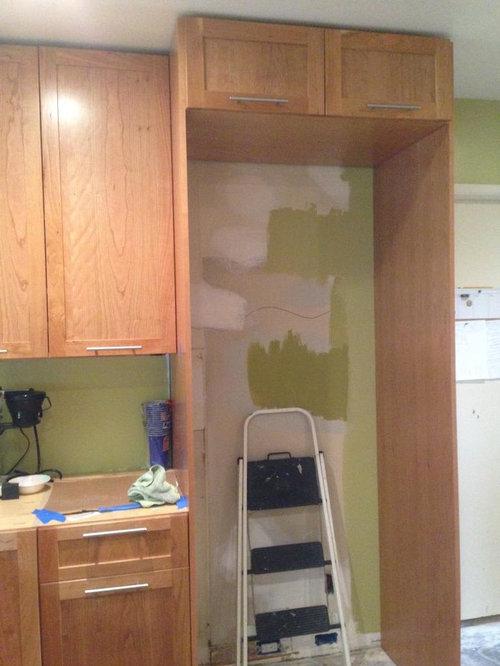 Fridge Surround I Don T Think This, Kitchen Cabinet Refrigerator Panel