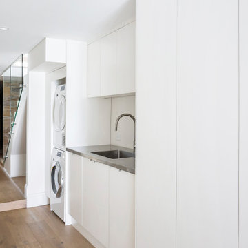 Laundry with Stainless Steel Benchtop