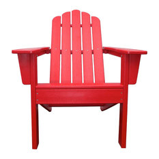 Marina Outdoor Patio Adirondack Chair, Red