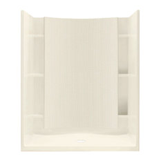 """Sterling  Accord 77""""x36""""x48"""" Vikrell Alcove Shower Kit, Biscuit"""