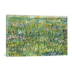 """""""Patch Of Grass"""" Wrapped Canvas Art Print, 40x26x1.5"""